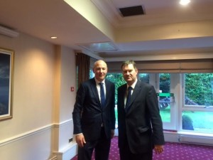 John with David Gauke, Financial Secretary to the Treasury in Carlisle following the Armstrong Watson conference